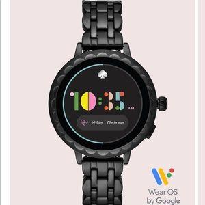 Kate Spade black scallop smartwatch 2